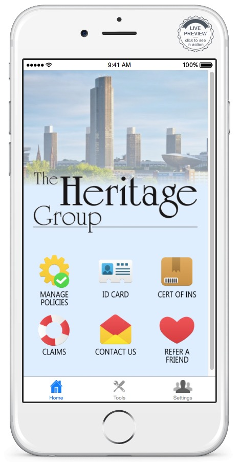 Download the Heritage Group Mobile App